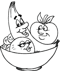 Fruit Coloring Pages Fruit Coloring Pages In Bowl Fruits And