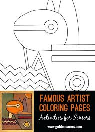 Limited Paul Klee Coloring Pages I1036 Famous Artist Coloring Pages