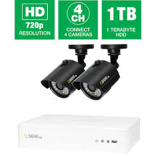 q see 4 channel 720p 1tb surveillance system and 2 hd bullet 4 channel 720p 1tb surveillance system and 2 hd bullet cameras 100 ft