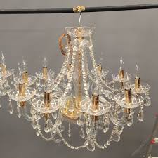 pair of glass and crystal chandeliers antique chandeliers