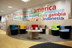 trendy office design. Modern Colorful Trendy Travel Agency Office Interior Design Ideas For Inspiration T