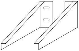 <b>Кронштейн для столешницы</b> Parallel (2 шт.) <b>Jacob</b> Delafon EB509 ...