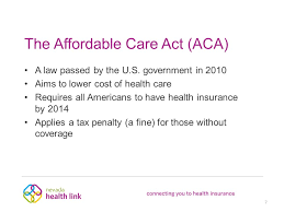 the affordable care act aca a law passed by the u s 8 nevada health
