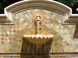 lion water fountain cast stone lion wall fountain tropical patio