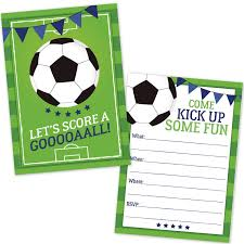 Soccer Party Invite Soccer Party Invitations For Kids 20 Count With Envelopes Soccer Party Supplies For Boys And Girls