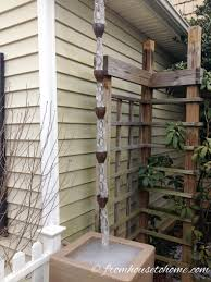 chain downspout. Rain Chains Even Look Good In The Winter | What, Why, Where And Chain Downspout I