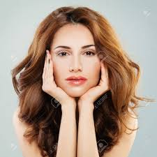 perfect woman with makeup cute face close up stock photo 71354170