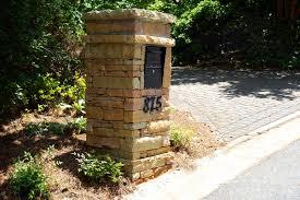 stone mailbox designs. Image Of: Stone Mailbox Cost Designs E
