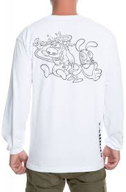 Dumbgood Size Chart The Ren Stimpy Long Sleeve In White