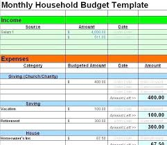 Sample Household Budget Beauteous Free Family Budget Template