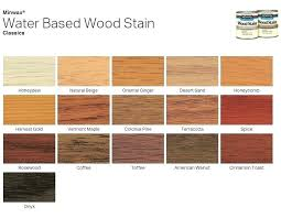 Wood Stain Colors Minwax Color Chart Water Based Woodstain Cineangular Co