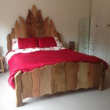 Wooden Flame Bed Frame Multicolour Throughout King Size Designs 10 ...