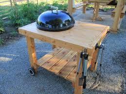 diy weber grill cart bbq station ideas
