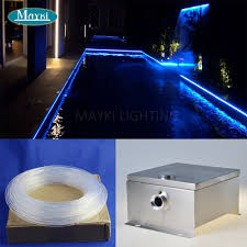 Inground Pool Lights For Sale 20m Side Glow Fiber Optic Cable Ip 43 Dmx Multi Color Change