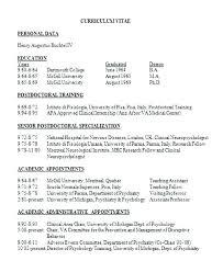 Doctor Format Resume 7 Sample Resumes Templates Best