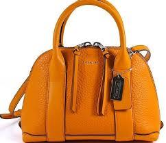 Coach 30143 Bleecker Pebbled Leather Mini Preston Satchel Bright Mandarin    eBay