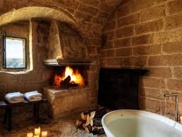pin bathroom with fireplace on inside unusual design tiled fireplace hearth