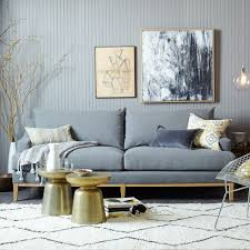 west elm montgomery sofa and accessories tonal relaxed affordable styling for everyday living