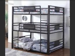 Sturdy Metal Triple Bunk bed