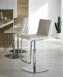 Choosing Kitchen Flooring Kitchen High Back White Leather Upholstery Modern Bar Stools