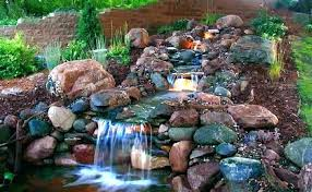 Relaxing garden backyard waterfalls Fountain Small Backyard Waterfalls And Ponds Waterfalls Ponds Ponds For Backyard With Waterfall Kits Waterfalls Landscaping And Yuvalbarorinfo Small Backyard Waterfalls And Ponds Yuvalbarorinfo
