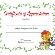 Printable Teacher Gift Certificate Of Appreciation Certificate