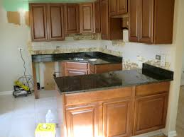 Kitchen Granite Counter Top Black Granite Countertops Kitchen With Brown Cabinets And Light