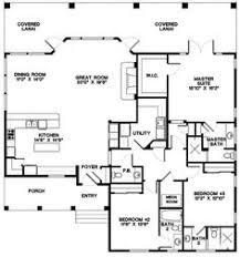 3 bedroom open concept bungalow floor plans
