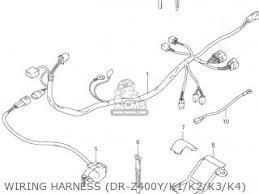 suzuki dr z400 2000 y usa e03 drz400 dr z400 parts lists and wiring harness dr z400y k1 k2 k3 k4