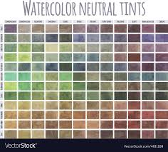 Watercolor Mixing Chart Download Watercolor Neutral Tints