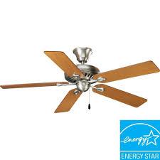 progress lighting airpro signature 52 in indoor antique nickel ceiling fan