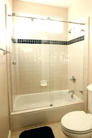 installing shower doors on tub how to install a shower door trackless shower doors for tubs