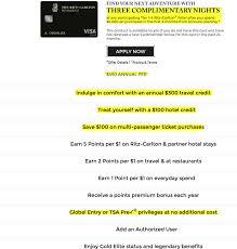 Chase Fairmont Visa Signature Vs Chase Ritz Carlton Visa