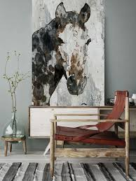 horse portrait extra large horse unique horse wall decor brown black white rustic horse large canvas art print up to 72 by irena orlov