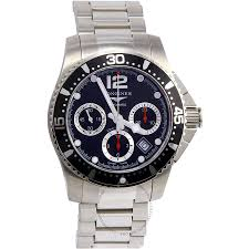 longines mens watch stainless steel case black dial l37444566 mens longines hydroconquest men s watch round stainless steel case black dial sapphire crystal automatic l37444566