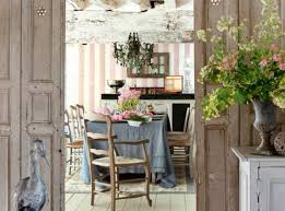 Inspiring Shabby Chic French Country Dining Room