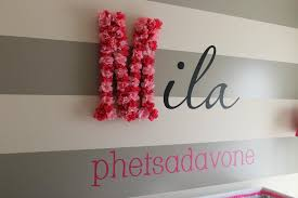 wall art letters for nursery