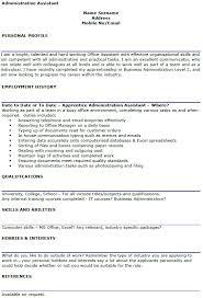 Cv Ms Office Administrative Assistant Cv Example Lettercv Com
