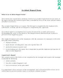Sample Incident Report Form 7 Documents In Word Employee Accident