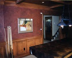 Faux Leather Painted Billiard Room  Fishers Indana PaintingFaux Leather Paint
