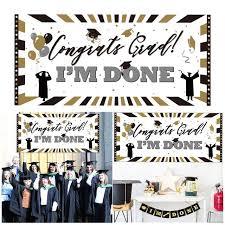 Pe Plastic Congrats Grad Im Done Sign Wall Banner Classic