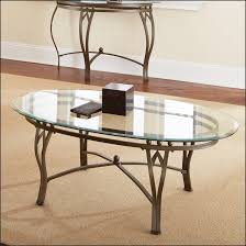 Enchanting Clear Antique Oval Glass Coffee Table Design As The