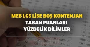 2021 LGS boş kalan kontenjanlar ve Lise taban puanları listesi açıklandı mı?