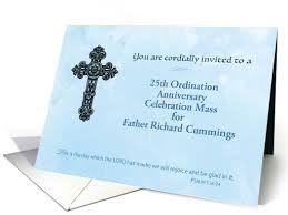 Ordination Invitation Template Invitation 25th Custom Ordination Anniversary Priest Ornate