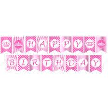 Purple Happy Birthday Banner Pink Birthday Banners Under Fontanacountryinn Com