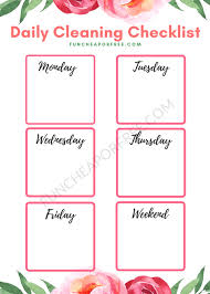 cleaning schedule printable deep clean your house with one task per day printable cleaning