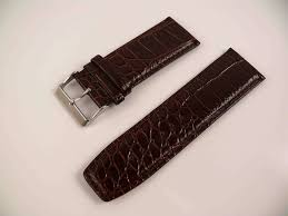 details about leather cuff watch band strap 28mm wide brown croc new