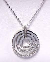 details about circle pendant medium white rhodium plating 2017 swarovski jewelry 5290187