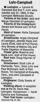 Eric T. Lohr, Wedding Announcement - Newspapers.com