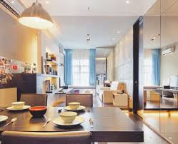 Modern Kitchen Living Room Kitchen Modern Apartment With Kitchen And Living Room Feat Black